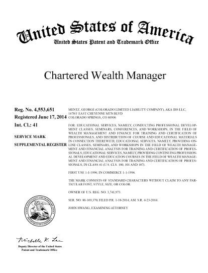 Chartered Wealth Manager